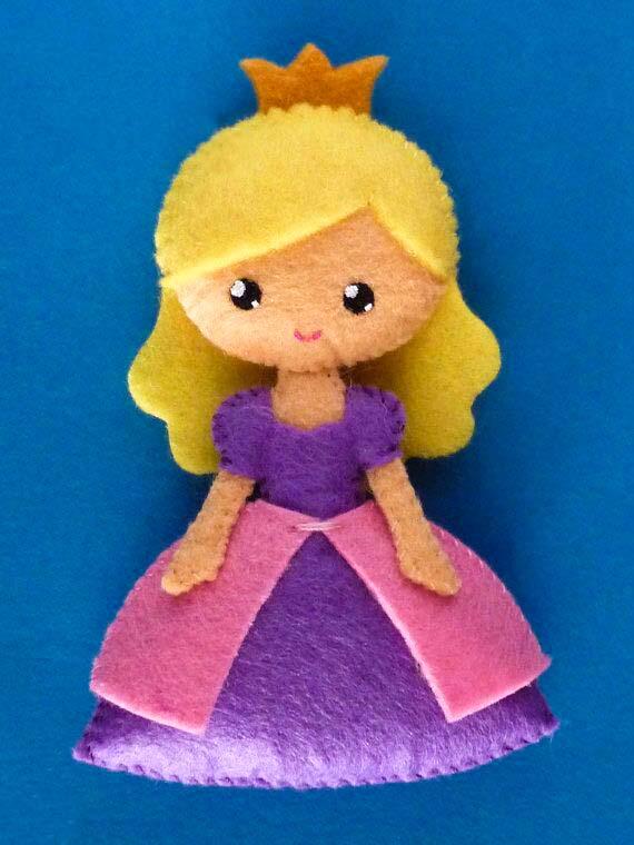 ساخت عروسک نمدی پرنسس عروسک دختر آيدا - فروشگاه زیبا